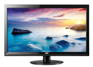 "AOC e2425Swd 24"" LED LCD Monitor - 16:9 - 5 ms Adjustable Display Angle - 1920 x 1080 - 16.7 Million Colors - 250 cd/m² - 20,000,000:1 - Full HD - DVI - VGA - 23 W - Black - ENERGY STAR, RoHS"