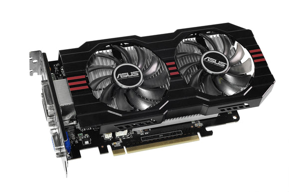 Asus GTX750TI-OC-2GD5 GeForce GTX 750 Ti Graphic Card - 1.07 GHz Core - 2 GB GDDR5 - PCI Express 3.0 5400 MHz Memory Clock - 128 bit Bus Width - 2560 x 1600 - Fan Cooler - DirectX 11.0 - 1 x HDMI - 1 x VGA - 2 x Total Number of DVI