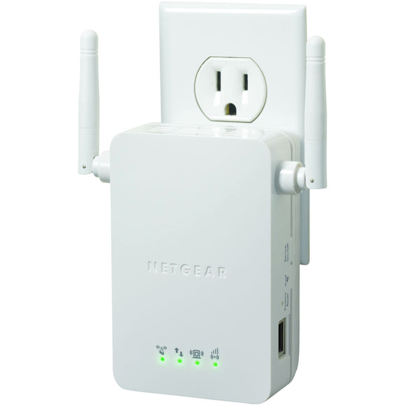 Netgear WN3000RP IEEE 802.11n 54 Mbit/s Wireless Range Extender - ISM BandNEW 1 x Network (RJ-45) - Wall Mountable