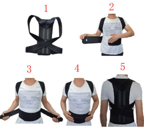 how to wear posture corrector back support brace