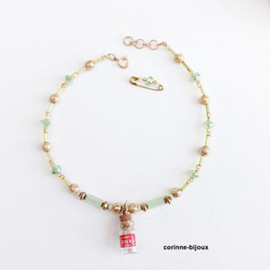 Collier enfant motif cookies