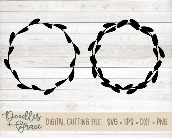 Hand Drawn Wreath SVG-SVG File-Doodles and Grace
