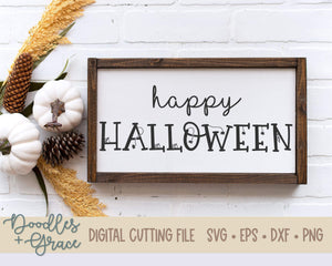 Happy Halloween SVG-SVG File-Doodles and Grace