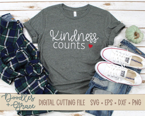 Kindness Counts SVG-SVG File-Doodles and Grace
