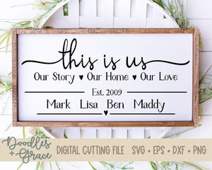 Personalized This is Us SVG-SVG File-Doodles and Grace
