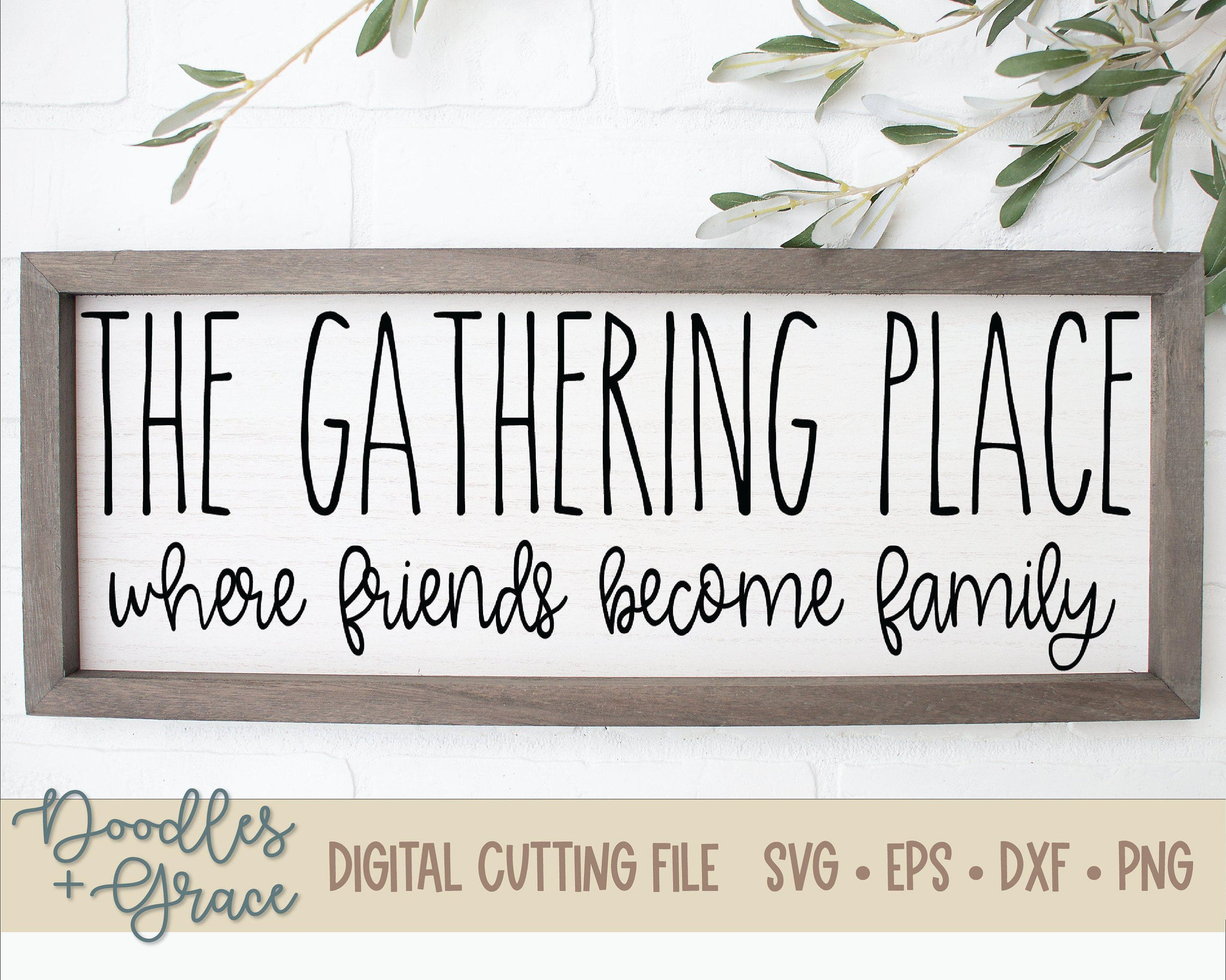 The Gathering Place SVG-SVG File-Doodles and Grace