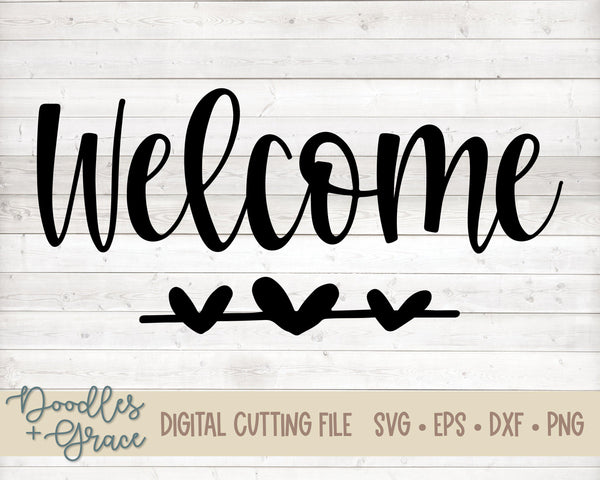 Welcome SVG Freebie-SVG File-Doodles and Grace