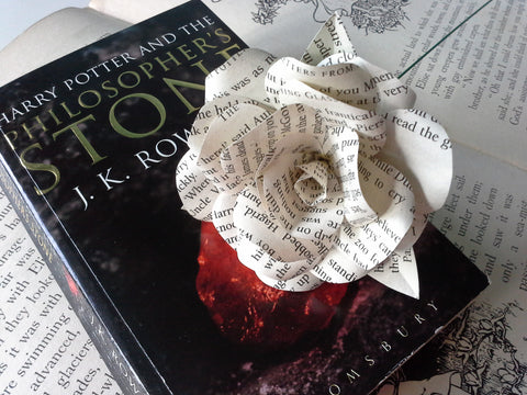 Harry Potter Book Paper Rose