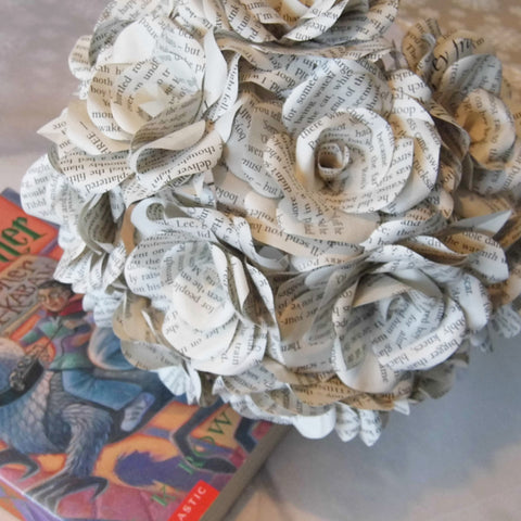 12 x Harry Potter Book Paper Roses