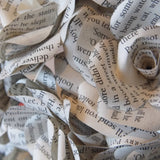 Harry Potter Paper Roses - 1 Paper Rose Flower From Each Book, 7 x Handmade Paper Flowers