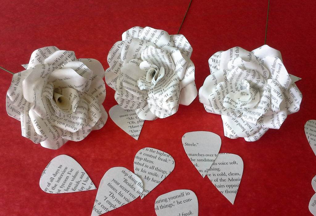 3 x fifty shades of grey roses book page paper flower roses 3 x fifty shades of grey roses book page paper flower roses handmade flowers mightylinksfo