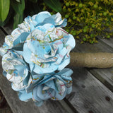 Map Paper Roses Bridal Bouquet