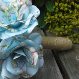 Map Paper Flower Wedding Bouquet