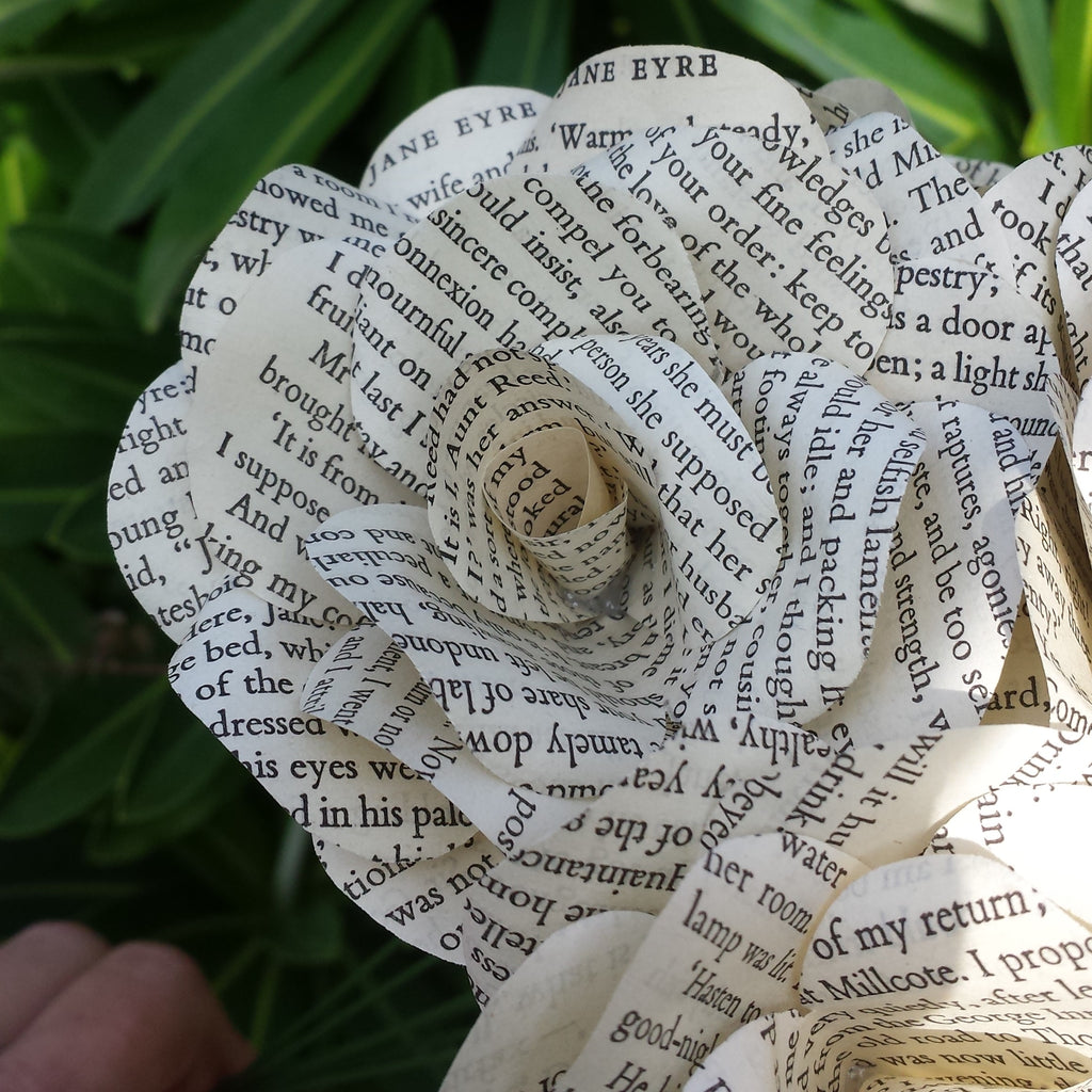 6 x jane eyre roses book page paper flower roses handmade paper 6 x jane eyre roses book page paper flower roses handmade paper flowers mightylinksfo