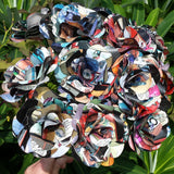 Harley Quinn Comic Book Paper Flowers - DC Comic Books