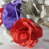 Mixed Colour Paper Flower Bridal Bouquet