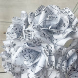 Sheet music paper flowers