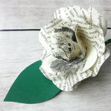 Alice in Wonderland Paper Flower Buttonhole