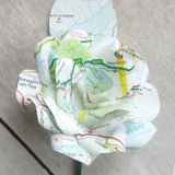 Map Paper Rose Buttonhole