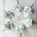 6 Map Paper Flower Buttonholes