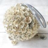 Handmade Paper Flower Kissing Ball