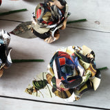 Comic Book Rose Buttonholes / Boutonnieres