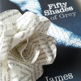 50 Shades of Grey Book Paper Flowers