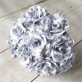 12 Sheet Music Paper Flowers