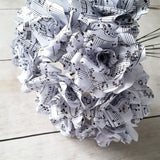 Paper Flowers made from sheet music
