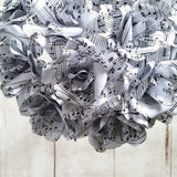 Handmade sheet music paper flowers