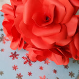 Red Paper Roses - Handmade Paper Flowers