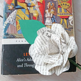 Alice in Wonderland Paper Rose Buttonhole
