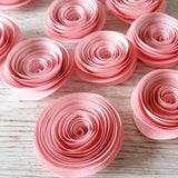 12 Pink Paper Flowers