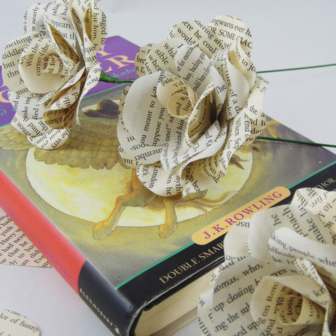 3 x Harry Potter Paper Roses