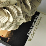 Wuthering Heights Book Paper Roses