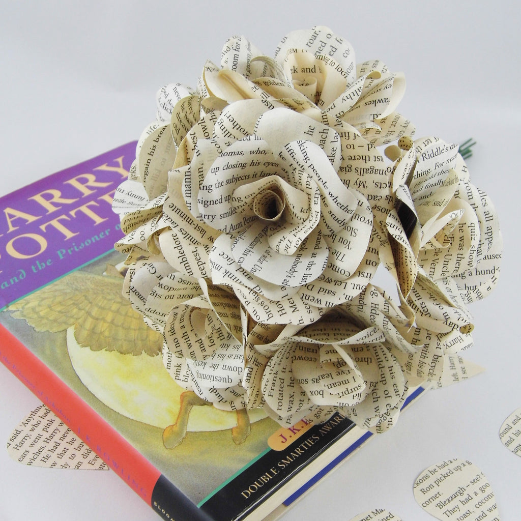 Harry Potter Paper Roses 1 Paper Rose Flower From Each Book 7 X