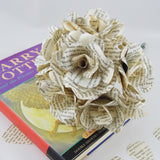 10 x Harry Potter Paper Roses mixed bouquet - 1 Paper Rose Flower From Each Book + 3 x Coloured Paper Roses
