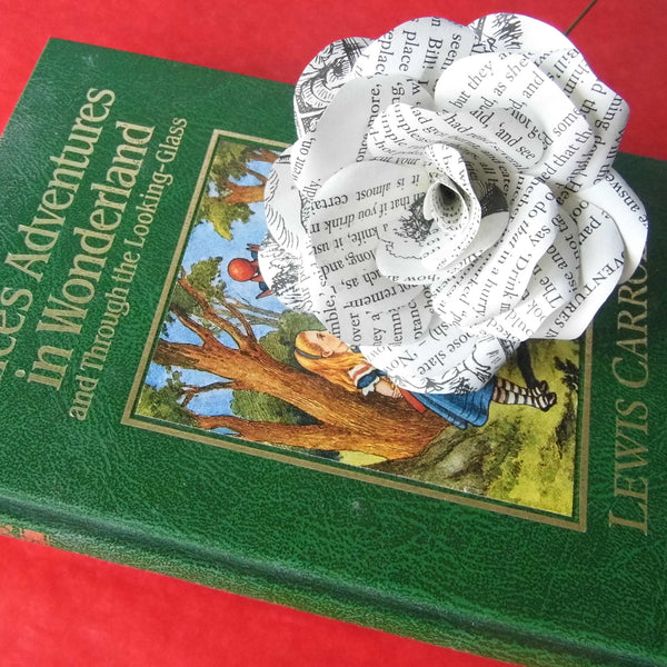 Alice in Wonderland Paper Rose