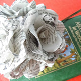 12 x Alice In Wonderland Book Paper Flowers