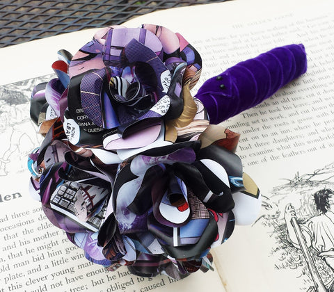 Comic book paper flowers weared crafts comic book paper flower bridal bouquet mightylinksfo