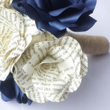 Harry Potter Book Paper Flower Bridal Bouquet
