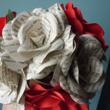 Harry Potter Book Roses & Red Roses Mixed Bouquet Close Up