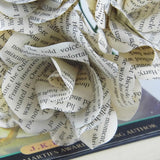 Harry Potter Book Paper Roses Close Up