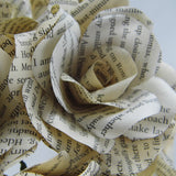 Harry Potter Book Paper Roses Close Up 2