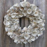 20 cm Handmade Book Paper Flower Rose Wreath