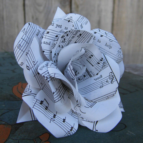 Single Sheet Music Paper Flower