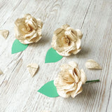 Vintage Map Paper Rose Boutonnieres