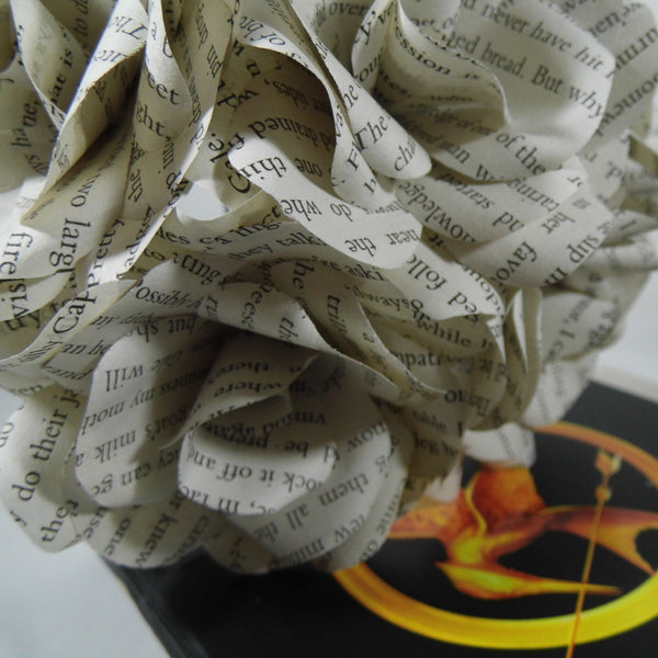 The Hunger Games Book Paper Roses