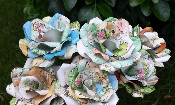 Peter Rabbit Book Page Paper Flower Rose