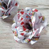 Playing Card Paper Flower Roses